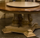 84″ ROUND TABLE WITH FOUR PEDESTALS