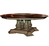 70″ ROUND TABLE WITH FOUR SMALL PEDESTALS